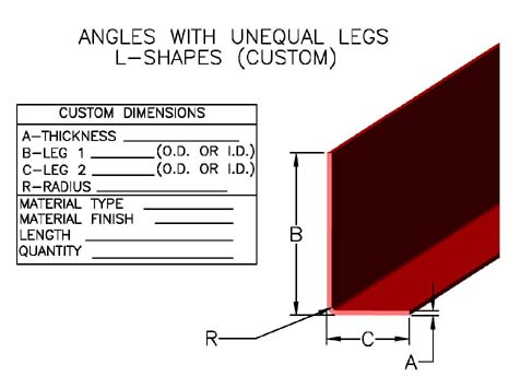 Item A 1004 Angles With Unequal Legs L Shapes Custom