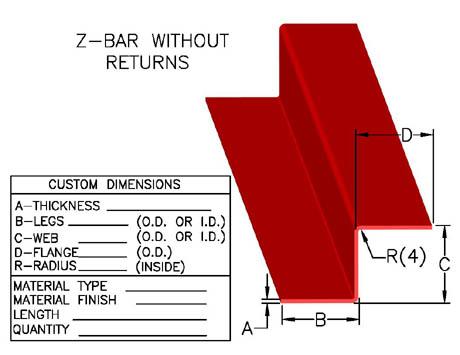 Item Zb 1004 Z Bar Z Channels Z Rails Zee S