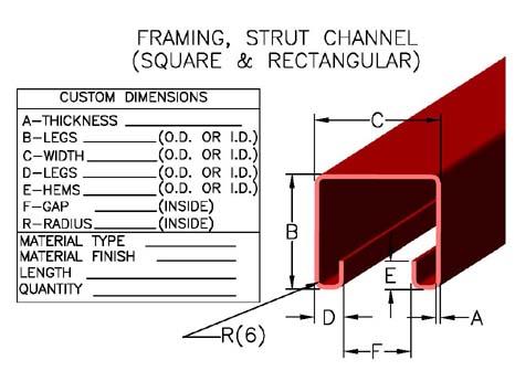 Item Strut 01 Framing Strut Channel Square