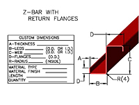 Item Zb 1002 Z Bar With Return Flanges On Johnson Bros